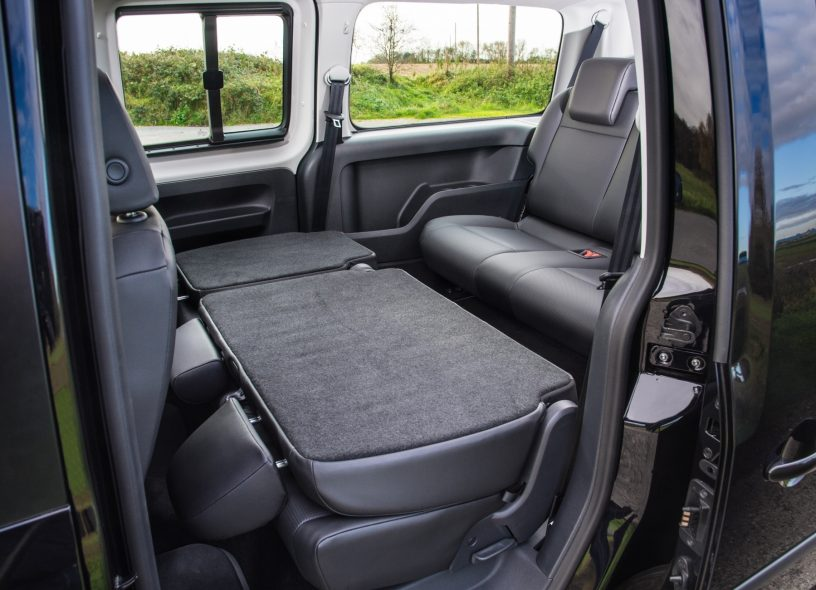 Caddy Maxi Life backseats folded