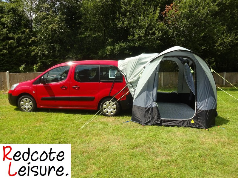 Micro camper with awning