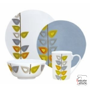 16 piece Melamine Dinner Set Leaf